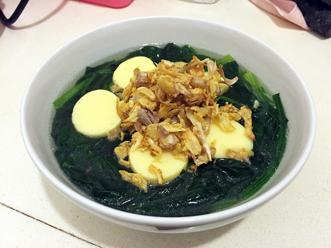 Spinach with Ground Pork Soup 12