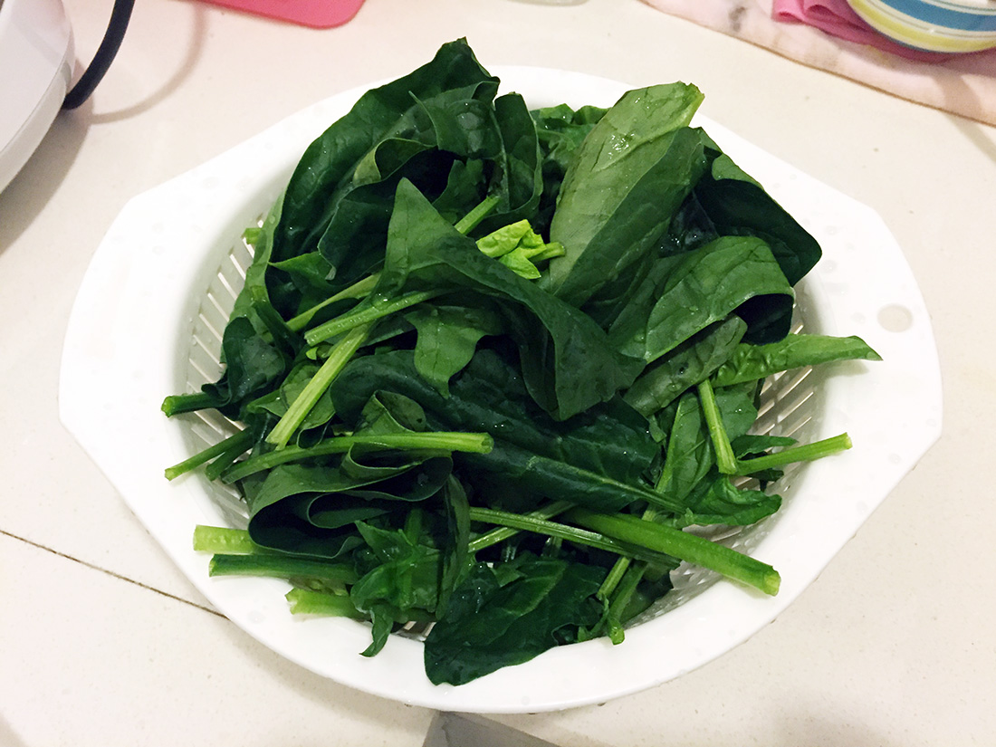 Spinach with Ground Pork Soup 2