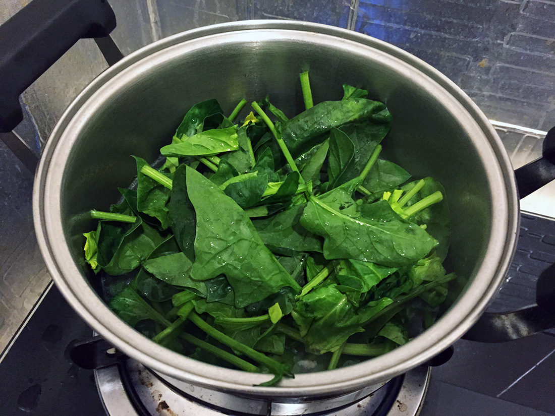 Spinach with Ground Pork Soup 9