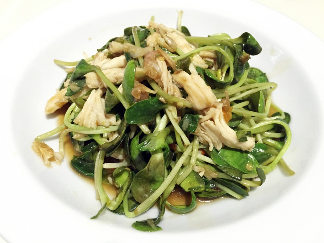 Fried Sunflower sprouts in oyster sauce 10