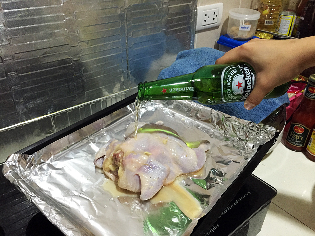 Roast Chicken with Beer 7