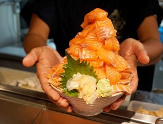 จัดปาย Salmon Ota Don 1 kg กินเต็มๆ จัดหนักๆ แซลมอน 1 กิโล ไม่มีที่ไหนอีกแล้น @Ebisu sushi bangkok เอกมัยซอย 10 >.<