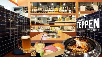 นั่งจิบเบียร์มะม่วง กินปู TARABA ย่างและของพรีเมี่ยมจากญี่ปุ่นอีกเพียบ #ราคาจับต้องได้ @TEPPEN ทองหล่อซอย 11