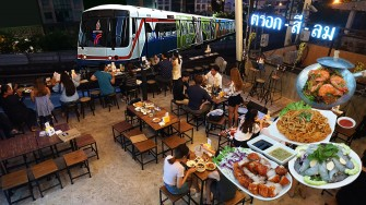 นั่งชิลแฮงเอาท์ Rooftop Bar วิวเมืองกรุง ชมรถไฟฟ้า @ตรอกสีลม (Trok Si Lom) ไม่ไกลจากสถานีรถไฟฟ้าช่องนนทรี