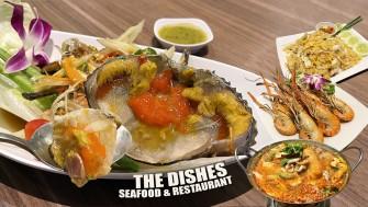 กินส้มตำปูไข่ดอง กุ้งแม่น้ำเผา ข้าวผัดปู ฟินกว่านี้ไม่มีแล้ว @The Dishes Seafood & Restaurant เอเชียทีค