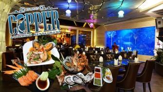 กินซีฟู้ดบุฟเฟ่ต์ ดูปลาโชว์ให้อาหารปลาใน Aquarium @Copper Aquarium Restaurant เพลิดเพลินได้ทุกเพศทุกวัย ^^