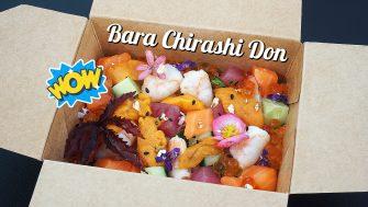 """""""BARA CHIRASHI DON"""" น่ากินสุดๆ ไปเล้ย… ข้าวหน้าแซลมอน ทูน่าสดหั่น กุ้งขาว อูนิสดๆ หวานๆ ละลายในปากและไข่ปลาแซลมอน โอ๊ยฟินเวอร์"""