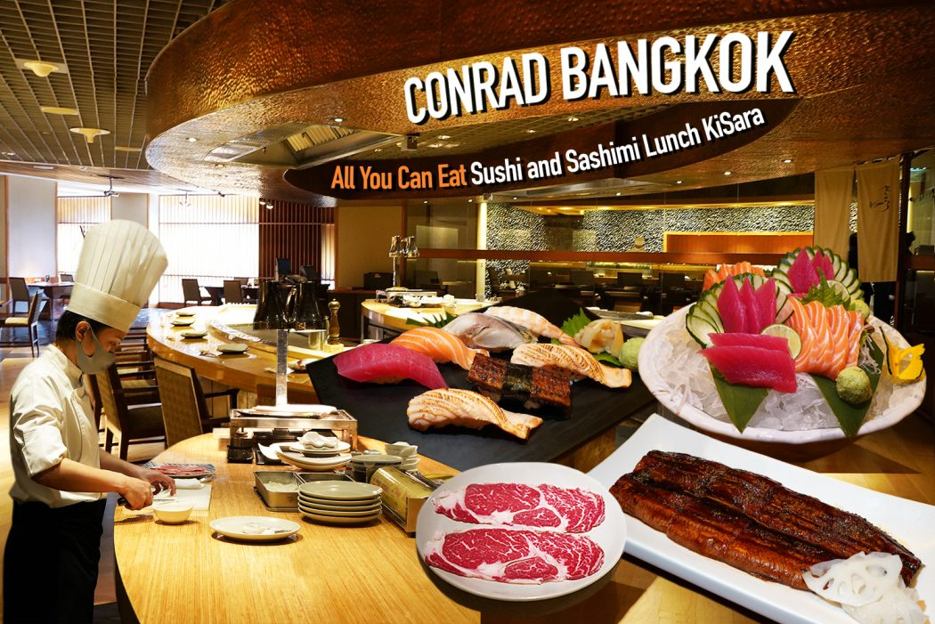 All You Can Eat Sushi and Sashimi KiSara Restaurant Conrad Bangkok 0