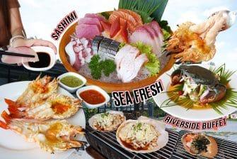 """กุ้งแม่น้ำเผา ปูทะเลดอง มันปู ซาชิมิ เนื้อวากิว โอ๊ยยยย… ฟินเวอร์ """"SeaFresh Riverside Buffet"""" กินซีฟู้ดไม่อั้น ชอบตรงนี้ !!!"""